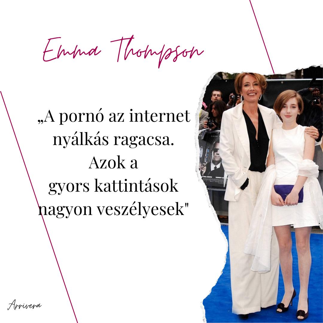 Celebek a pornó ellen – Emma Thompson